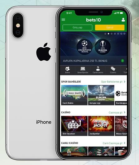 Bets10 IOS Uygulaması